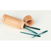 TEAL WOODEN DARNING NEEDLES  THE MINDFUL COLLECTION