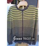 Cours TRICOT | Veste zippée à rayures